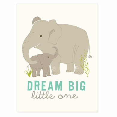 Sea Urchin Studio Dream Big Art Poster For Boys, Grey/Blue, 12  X 16