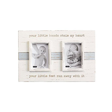 Mud Pie Your Little Hands Frame Distressed Nursery Decor, 5  X 3.5
