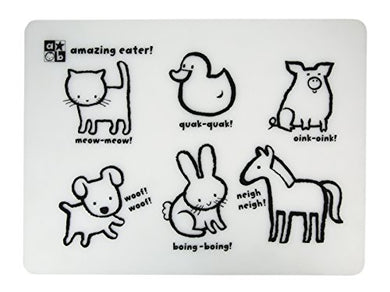 Amazing Baby Silicon Placemat, Animals