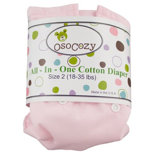 Osocozy All In One Cloth Diaper, Pink, Small
