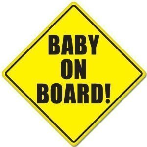 Baby On Board Baby Safety Sign Car Sticker 5  X 5  (2)