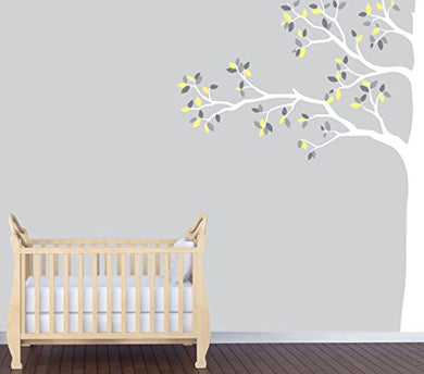 Yellow Trees, Forest Wall Decal, Tree Wall Art
