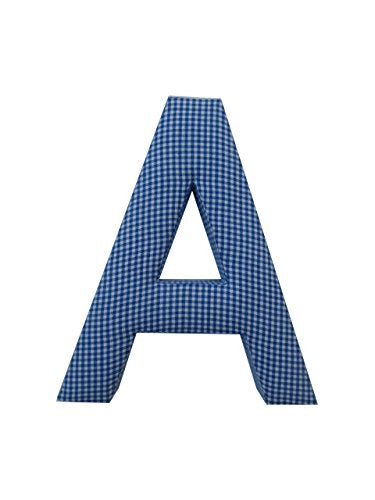 Letter A Fabric Wall Letter - Blue Gingham - Letter A