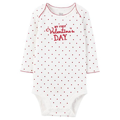 Just One You By Carter'S Baby Girls' Bodysuit - My First Valentines' Day (6 Months)