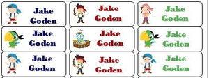 30 Personalized Waterproof Name Labels Jake And The Neverland Pirates Labels Izzy Skully Jake Cubby Name Labels Personalized Name Labels Personalized Tags Favor Tags Daycare Labels