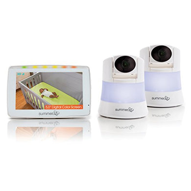 Summer Infant Wide View 2.0 Duo Baby Video Monitor With 5-Inch Screen And 2 Wide View Cameras