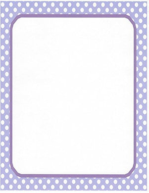 White &Amp; Purple Polka Dot Stationery Printer Paper 26 Sheets