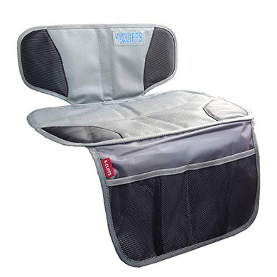 Baby Booster Car Seat Protection Mat | Waterproof &Amp; Padded | Black/Grey
