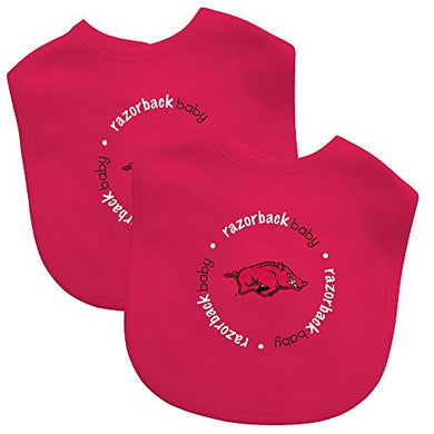 Baby Fanatic Team Color Bibs, University Of Arkansas, 2-Count