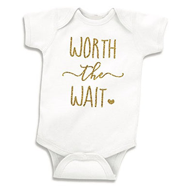 Baby Girl Clothes, Newborn Girl Bodysuit Worth The Wait (0-3 Months)