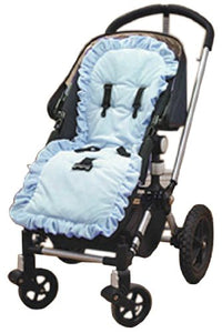 Baby Doll Bedding Heavenly Soft Minky Stroller Covers, Blue