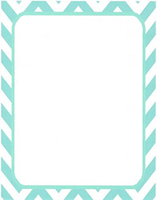 Teal Chevron Stationery Printer Paper 26 Sheets