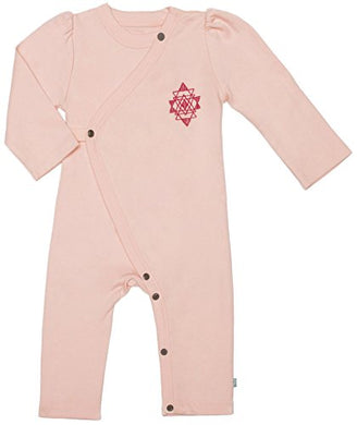 Finn + Emma Organic Cotton Coverall Jumpsuit For Baby Boy Or Girl  Tropical Peach, 3-6 Months
