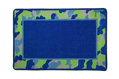 Kids Area Rug, Boys Camo | Childrens Room Carpet In Green And Blue Camouflage | Delta Children