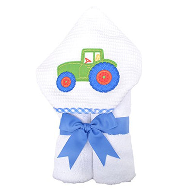 3 Marthas Boutique Everykid Hooded Towel (Green - Tractor)