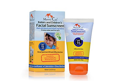 Facial Sunscreen For Babies &Amp; Toddlers By Mommy Care Natural Organic Sun Protection 15 Spv 60Ml 2 Fl