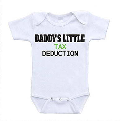 Daddy'S Little Tax Deduction Hilarious Funny Cute Baby Onesies (24 Months)