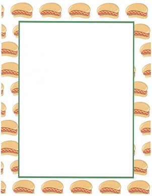 Hot Dog Stationery Printer Paper 26 Sheets