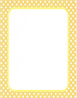 White &Amp; Yellow Polka Dot Stationery Printer Paper 26 Sheets