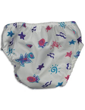 Load image into Gallery viewer, My Pool Pal - Baby Girls Starfish Reusable Swim Diaper, White, Multi 28824-Small