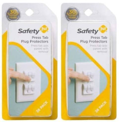 Safety 1St Press Tab Plug Protectors - 72 Count