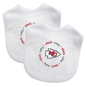 Baby Fanatic Team Color Bibs, Kansas City Chiefs, 2-Count