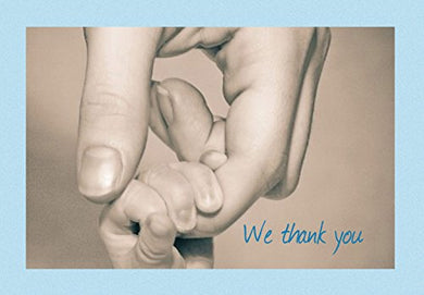 We Thank You New Baby Shower Thank You Cards - First Connection Boy - 20 Blank Greeting Cards And Matching Envelopes