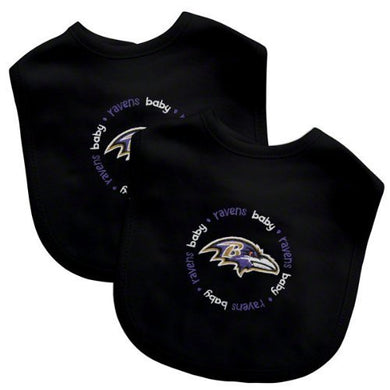 Baby Fanatic Team Color Bibs, Baltimore Ravens, 2-Count By Baby Fanatic