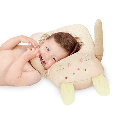 Syshion 100% Organic Cotton Toddler Baby Pillow Toy (Cuddly Rabbit ) From Newborn To 7 Years Old (Yellow)