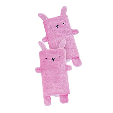 Goldbug Plush Carseat Strap Cover Bunny- Pink
