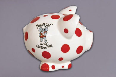Ceramic Collegiate Piggy Bank Alabama Crimson Tide By Magnolia Lane