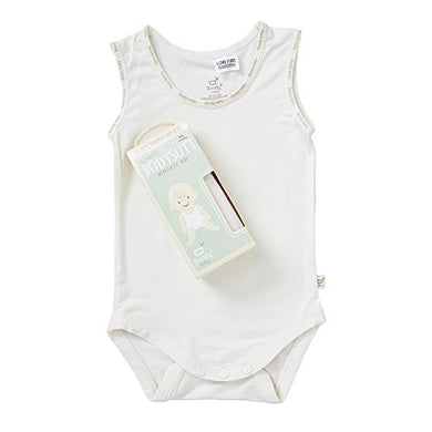 Boody Body Baby Ecowear Sleeveless Onesie - Soft Cooling Infant Bodysuit Made From Natural Organic Bamboo - Soft Breathable Snap Bottom For Sensitive Skin - Chalk White, 3-6 Months
