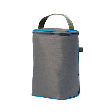 J.L. Childress Tall Twocool, Breastmilk Cooler, Baby Bottle And Baby Food Bag, Insulated And Leak Proof, Ice Pack Included, Fits 2-4 Bottles, Grey/Teal