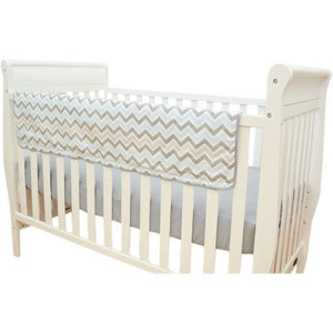 Tl Care Blue And Gray Chevron Crib Rail Cover