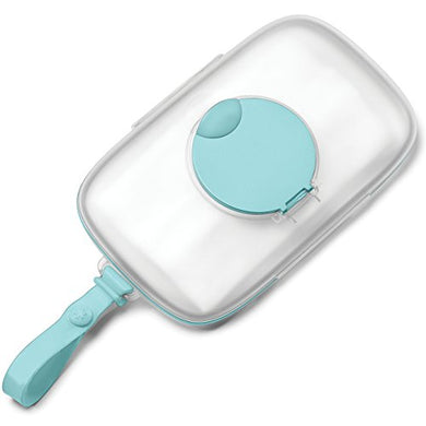 Skip Hop On-The-Go Snug Seal Baby Wipes Case, Teal