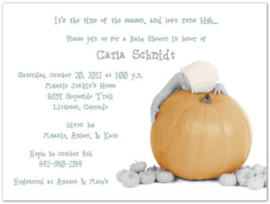 The Great Pumpkin Baby Shower Invitations - Set Of 20