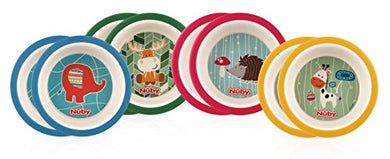 Nuby 2 Piece Bamboo Printed Bowl, Colors May Vary