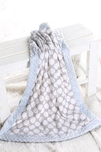 Load image into Gallery viewer, Bacati - Elephants Blue/Grey Blanket2