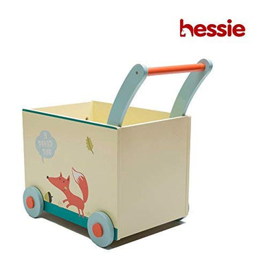 Hessie Little Toddler Kids/Baby Push Wooden Learning Walker, Push And Pull Toys For 1 Year And Up - Beige Fox