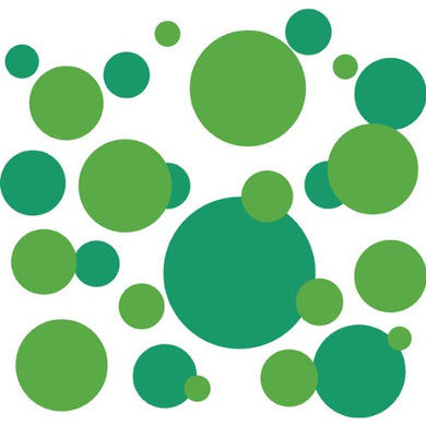 136 Polka Dot Peel & Stick Wall Decals, Kelly Green & Granny Smith Green