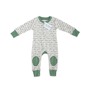 Cat &Amp; Dogma - Certified Organic Infant/Baby Clothes Ily/Sage Playsuit (6-12 Months)