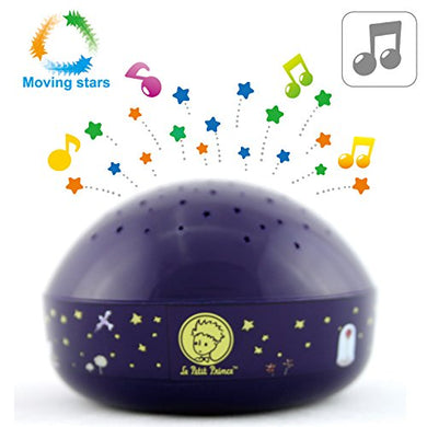 Le Petit Prince Moving Twinkle Stars Night Light Projector Sound Machine By Lumitusi