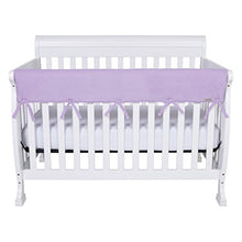 Load image into Gallery viewer, Personalized Embroidered Name Or Monogram 3Pc Trend Lab Crib Wrap Rail Guard Set, Lavendar