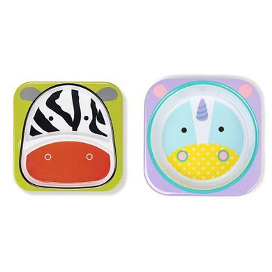 Skip Hop Zoo Melamine Plate &Amp; Bowl Set, Unicorn
