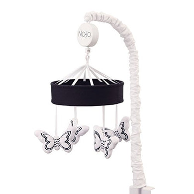 Nojo Dreamer - Black/White Butterflies Musical Mobile