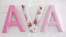 Load image into Gallery viewer, Letter R Fabric Wall Letter - Pink Gingham - Letter R