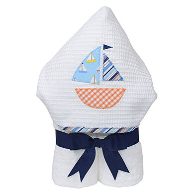 3 Marthas Boutique Everykid Hooded Towel (Blue - Anchors Away)