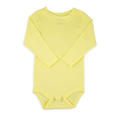 Yellow Long Sleeve Snapsuit Bodysuit Onesie - Size 6-12 Months