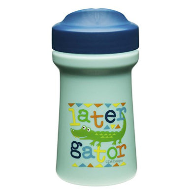 Zak Designs Toddlerific Perfect Flo Toddler Cup With Later Gator Graphics, Single Wall Construction And Adjustable Flow Technology