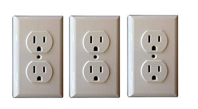 Shock Blocker Standard Baby &Amp; Child Safe Plate Electrical Outlet Covers